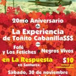 La Experiencia de Toñito Cabanilla$$$